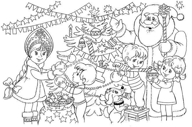 Новогодние раскраски для детей 2️⃣0️⃣2️⃣0️⃣, бесплатные ...